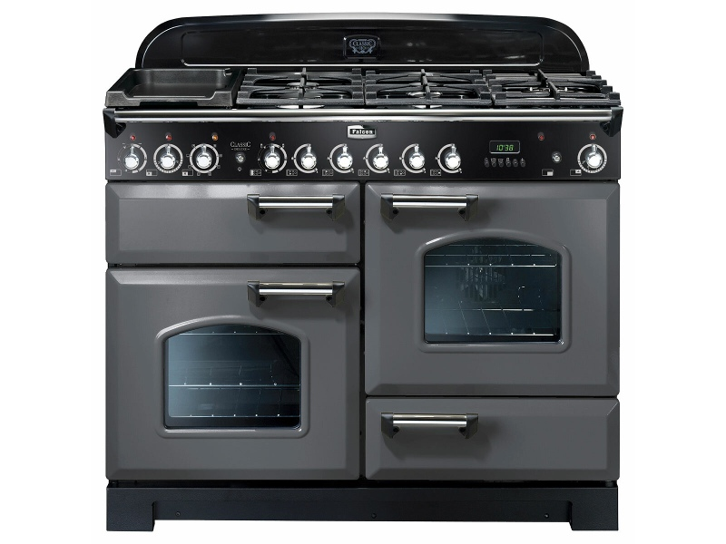Falcon 110cm Classic Deluxe Freestanding Dual Fuel Oven/Stove CDL110DFSL-CH
