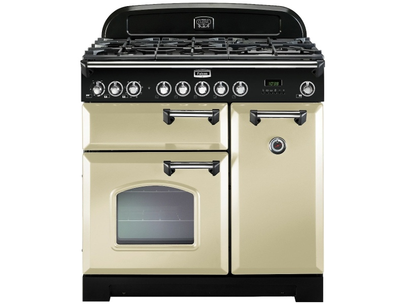 Falcon CDL90DFCR-CH 90cm Freestanding Dual Fuel Oven/Stove