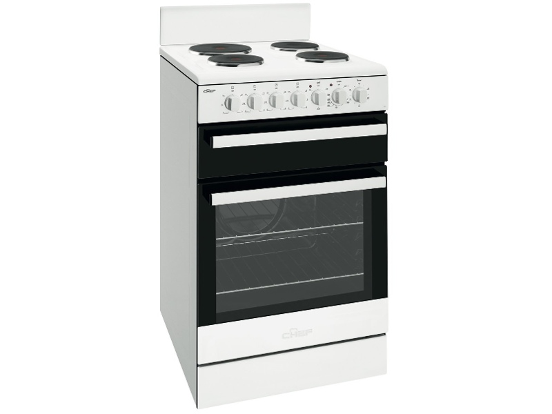 Chef CFE535WB 54cm Freestanding Electric Oven/Stove