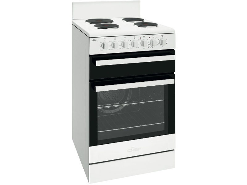 Chef CFE537WB 54cm Freestanding Electric Oven/Stove