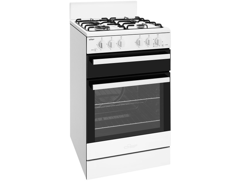 Chef CFG503WBNG 54cm Freestanding Natural Gas Oven/Stove