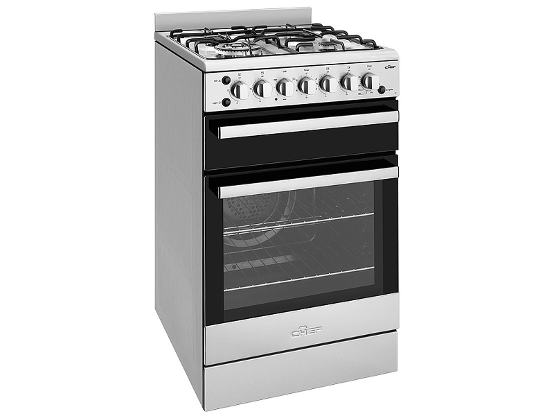 Chef CFG517SBNG 54cm Freestanding Natural Gas Oven/Stove