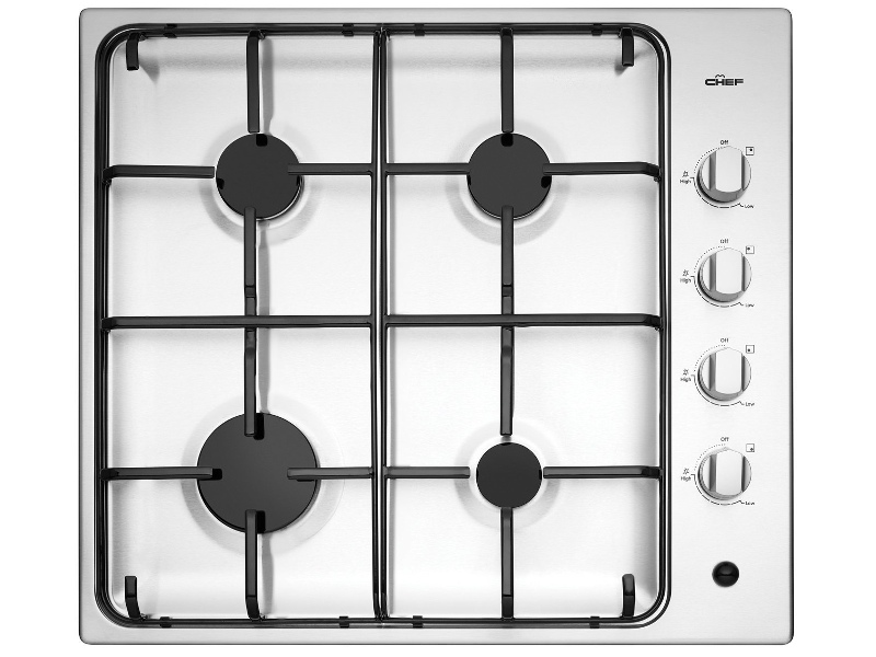 Chef CHG642SB 60cm Natural Gas Cooktop