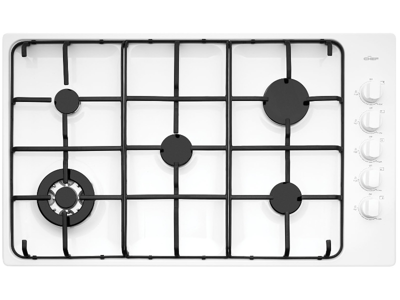 Chef CHG956WB 86cm Natural Gas Cooktop