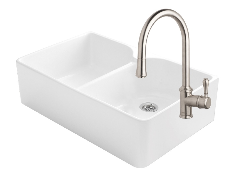 Abey CLOTAIRE-2WTBN Chambord Clotaire Double Bowl Sink Pack