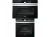 Appliances Online Siemens 60cm Pyrolytic Built-In Oven & 45cm Compact Built-In Oven with Microwave CM633GBS1BHB673G0S1A