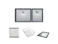 Appliances Online Franke CMX220-50/34P1 Centinox Minimalist 1 and 3/4 Bowl Sink with Accessories