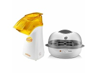 Appliances Online Sunbeam CP4600EC1300 Snack Heroes Popcorn Maker + Egg Cooker Combo