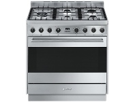 Appliances Online Smeg CS95GMXNA 90cm Freestanding Dual Fuel Oven/Stove