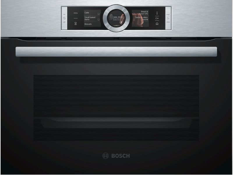 Bosch CSG656RS1A 45cm Serie 8 Compact Combi-Steam Oven
