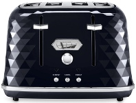 Appliances Online Delonghi CTJX4003BK Brillante 4 Slice Toaster