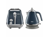 Appliances Online DeLonghi Icona Capitals Kettle and 2 Slice Toaster Breakfast Pack CTOC2003BLKBOC2001BL