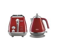 Appliances Online DeLonghi Icona Capitals Kettle and 2 Slice Toaster Breakfast Pack CTOC2003RKBOC2001R