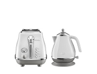 Appliances Online DeLonghi Icona Capitals Kettle and 2 Slice Toaster Breakfast Pack CTOC2003WKBOC2001W