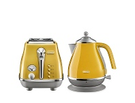 Appliances Online DeLonghi Icona Capitals Kettle and 2 Slice Toaster Breakfast Pack CTOC2003YKBOC2001Y