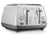 Appliances Online Delonghi CTOC4003W Icona Capitals 4 Slice Toaster Sydney White