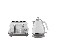 Appliances Online DeLonghi Icona Capitals Kettle and 4 Slice Toaster Breakfast Pack CTOC4003WKBOC2001W
