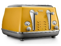 Appliances Online Delonghi CTOC4003Y Icona Capitals 4 Slice Toaster New York Yellow