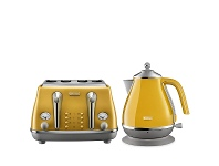 Appliances Online DeLonghi Icona Capitals Kettle and 4 Slice Toaster Breakfast Pack CTOC4003YKBOC2001Y