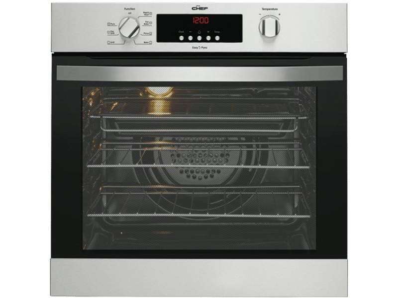 Chef CVEP614SA 60cm Electric Built-In Pyrolytic Oven