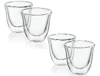 Delonghi DBWALLESP4PACK Espresso Glasses