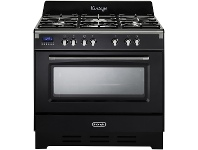 Appliances Online Delonghi DEFV908BK 90cm Freestanding Dual Fuel Oven/Stove