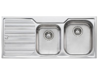 Appliances Online Oliveri DZ112NTH Diaz 1 & 3/4 Bowl Left Hand Drainer Sink