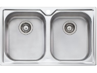Appliances Online Oliveri DZ163 Diaz Double Bowl Topmount Sink