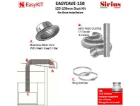 Appliances Online Sirius EASYEAVE-150 125-150mm Under Eave Ducting Kit