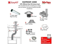 Appliances Online Sirius EASYROOF-150M 125-150mm Metal Roof Ducting Kit