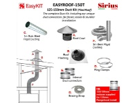 Appliances Online Sirius EASYROOF-150T 125-150mm Tiled Roof Ducting Kit