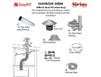 Appliances Online Sirius EASYROOF200M 200mm Metal Roof Ducting Kit