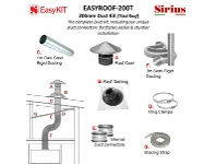 Appliances Online Sirius EASYROOF200T 200mm Tiled Roof Ducting Kit