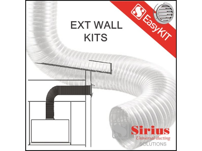 Sirius EASYWALL-200 Wall Flue Kit Extension