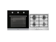 Esatto 60cm Electric Oven & 60cm Natural Gas Cooktop Pack EOG6FF1