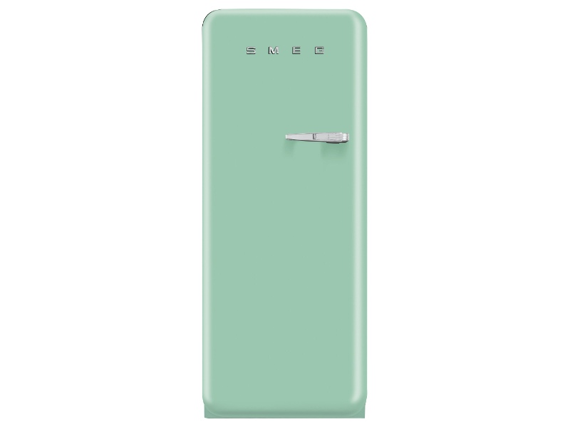 Smeg 270L 50's Retro Style Aesthetic Top Mount Fridge Pastel Green FAB28LPG3AU