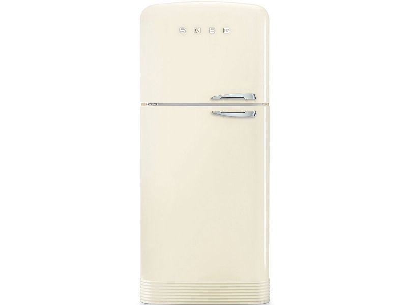 Smeg 467L 50's Retro Style Top Mount Fridge Cream - Left Hinge FAB50LCRAU