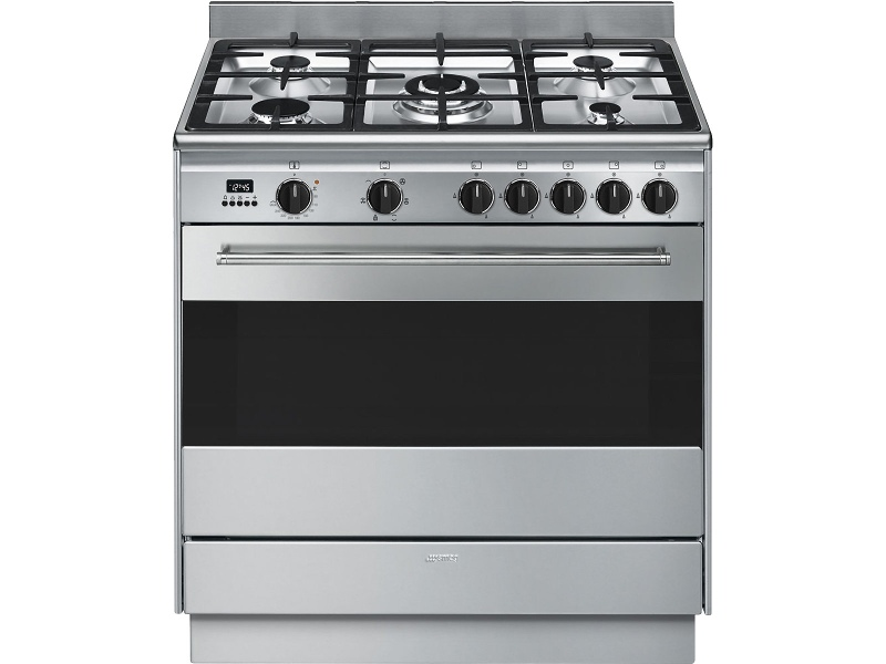 Smeg FS9606XSN 90cm Freestanding Dual Fuel Oven/Stove