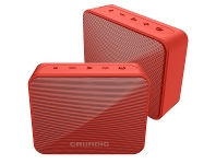 Appliances Online Grundig SOLO Portable Bluetooth Two Speaker Pack Red GLR7751-2PK