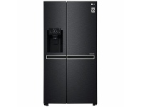Appliances Online LG 668L Side by Side Fridge with Non-Plumbed Ice & Water Dispenser Matte Black GS-L668MBNL