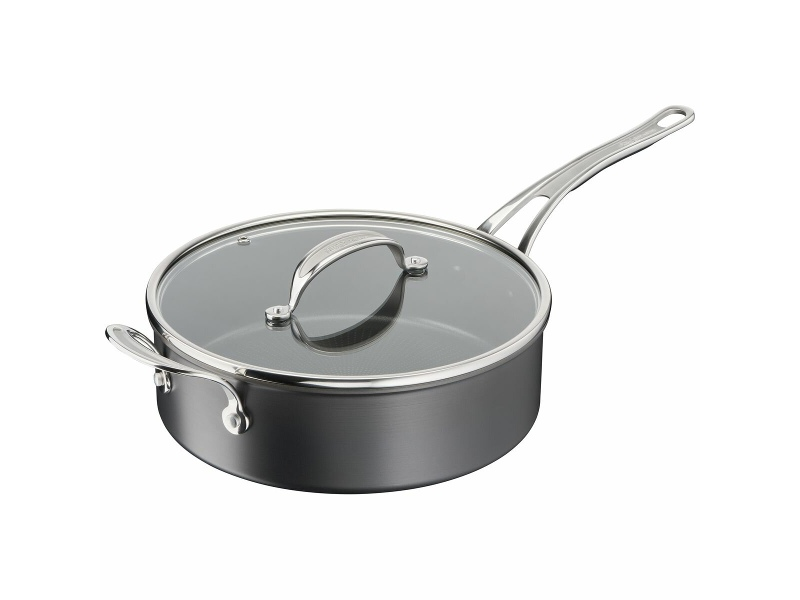Tefal 26cm Jamie Oliver Cook's Classics Induction Hard Anodised Saute Pan with Lid H9123344