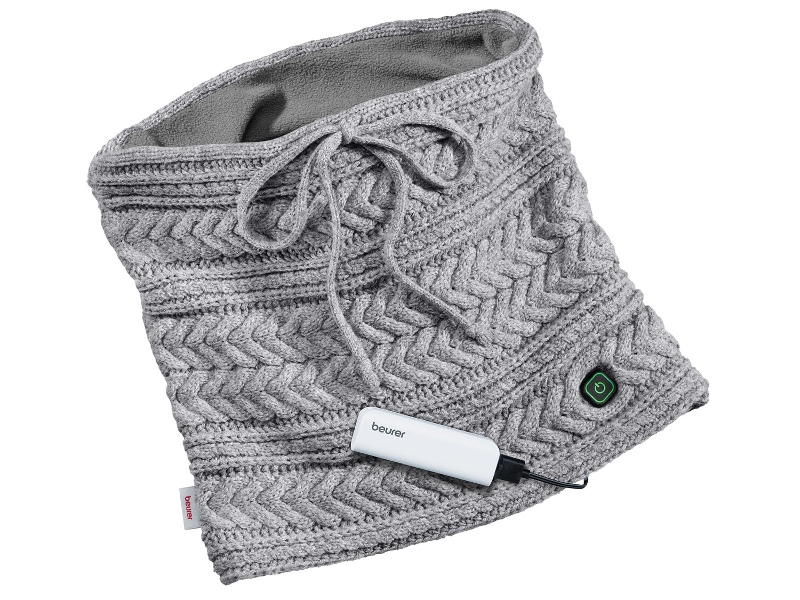 Beurer HK37 Heated Tube Scarf with Powerbank
