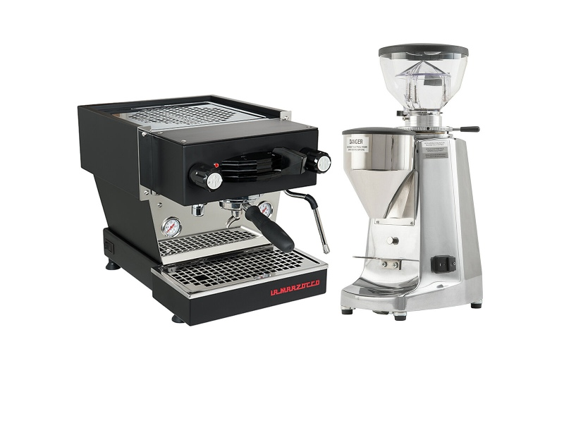 La Marzocco Linea Mini Home Package Black/Stainless Steel H-MPACKBS