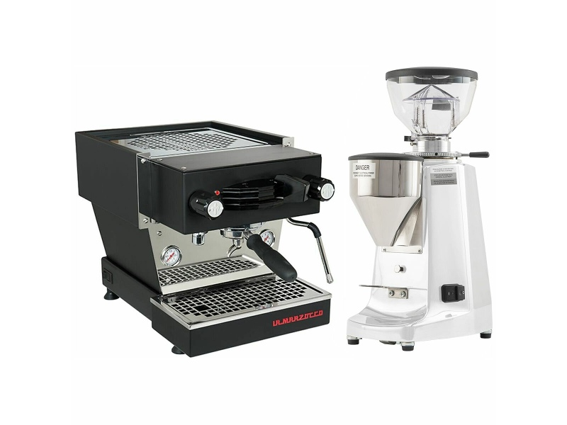 La Marzocco Linea Mini Black Home Package with White Grinder H-MPACKBW
