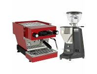 Appliances Online La Marzocco Linea Mini Red Home Package with Black Grinder H-MPACKR