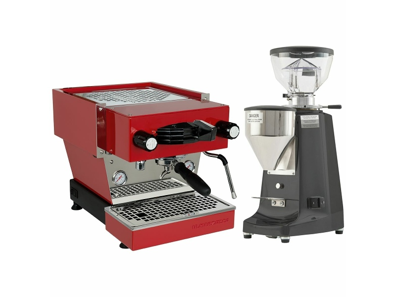 La Marzocco Linea Mini Red Home Package with Black Grinder H-MPACKR