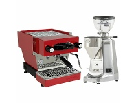 Appliances Online La Marzocco Linea Mini Red Home Package with Stainless Steel Grinder H-MPACKRS