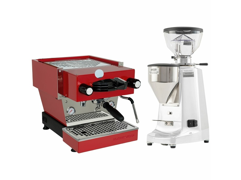 La Marzocco Linea Mini Red Home Package with White Grinder H-MPACKRW