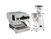 Appliances Online La Marzocco Linea Mini Stainless Steel Home Package with White Grinder H-MPACKSW
