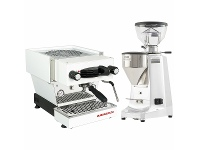 Appliances Online La Marzocco Linea Mini Home Package with Grinder White H-MPACKW